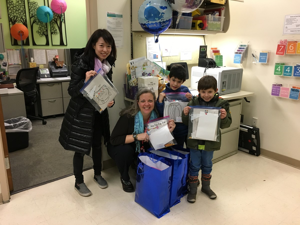 Aidan Students Assemble and Deliver Art Supplies to Children's National Medical Center