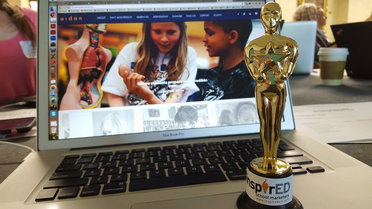 Aidan's Website Honored by InspirEd, Independent School Marketing Professionals