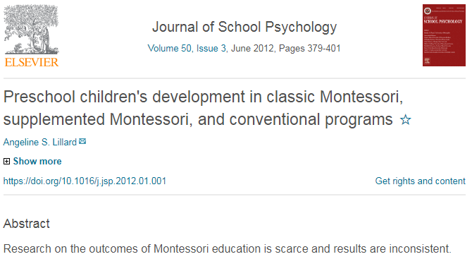 The Benefit of High Fidelity Montessori over Mixed Programs