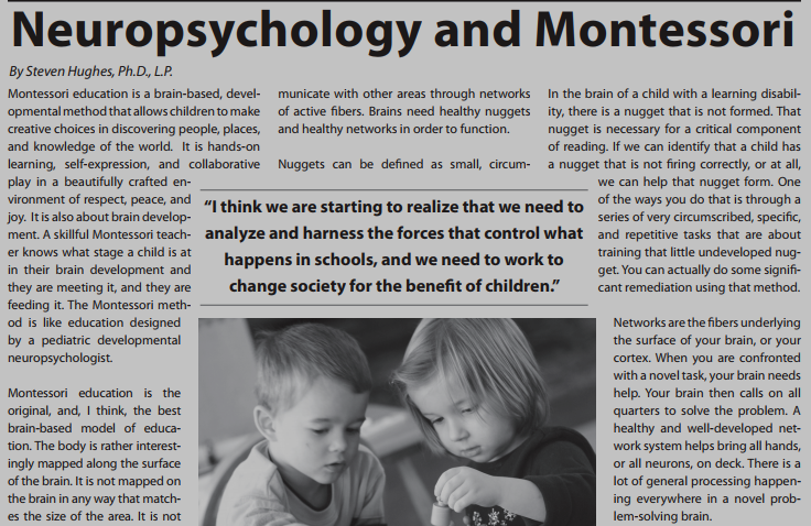 Neuropsychology and Montessori